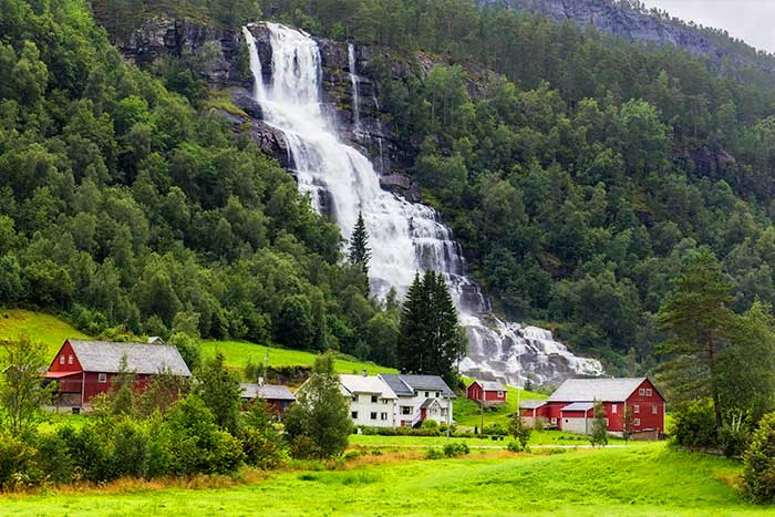 Waterfall, Norway