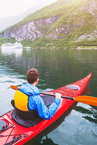 Kayaking Norwegian Fjords