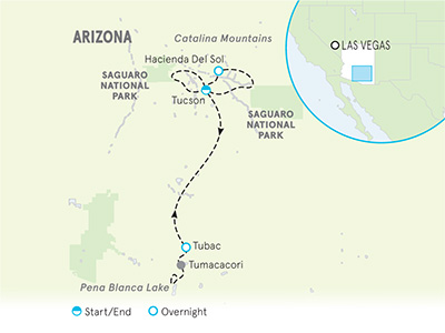 Arizona Bike Tour Map