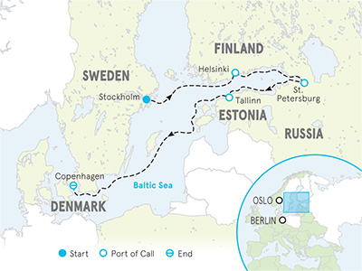 Baltic Sea Ocean Cruise Full Ship Map