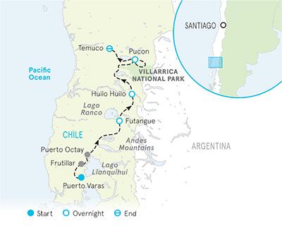 Chile Bike Tour Map