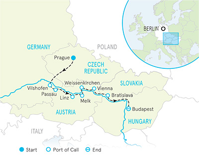 Danube River Cruise Family Bike Tour - 20s & Beyond Map