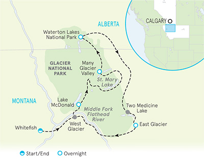 Glacier Montana Biking Map