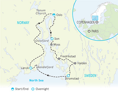 Norway & Sweden Tour Map