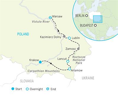 Poland Tour Map