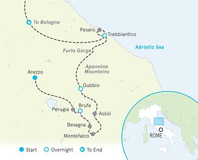 Southern Tuscany Biking Map