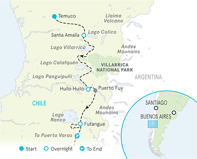 Chile Multi-Adventure Tour Map