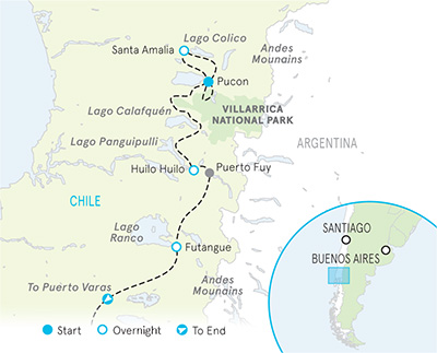 Chile Multi-Adventure Tour Map