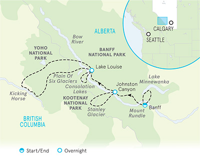 Canadian Rockies Multi-Adventure Map
