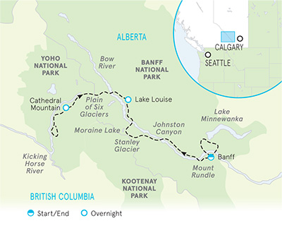 Canadian Rockies Multi-Adventure Map
