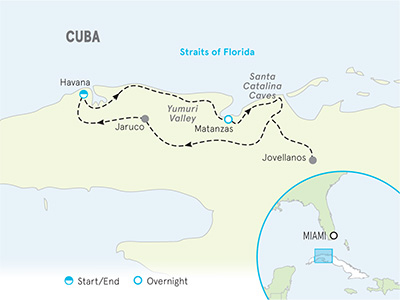 Cuba Multi-Adventure Family Breakaway Map