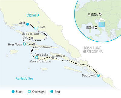 Dalmatian Coast Map