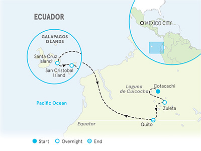 Ecuador and Galapagos Multi-Adventure Map