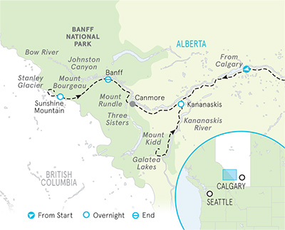 Banff & Kananaskis Map