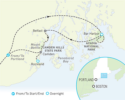 Maine Family Multi-Adventure Map