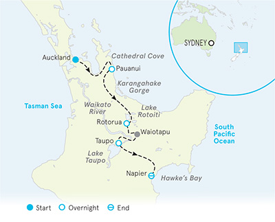 New Zealand Multi-Adventure map