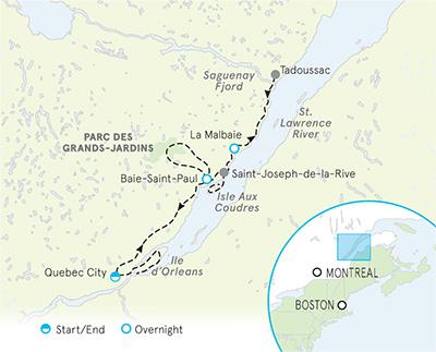 Quebec Canada Map