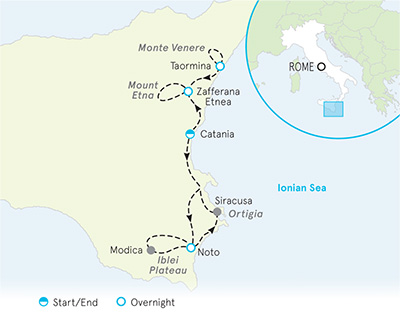 Sicily Biking Map