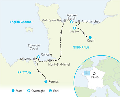 Brittany Normandy France Map