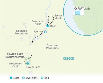 Crater Lake Walking Tour Map