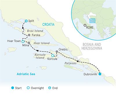 Dalmatian Coast Croatia Map