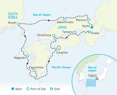 Japan Ocean Cruise map