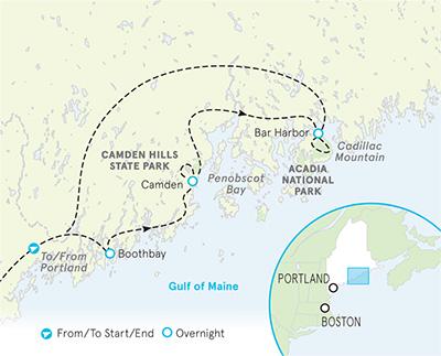 Maine walking map