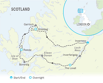 Scotland Walking & Hiking Tour Map
