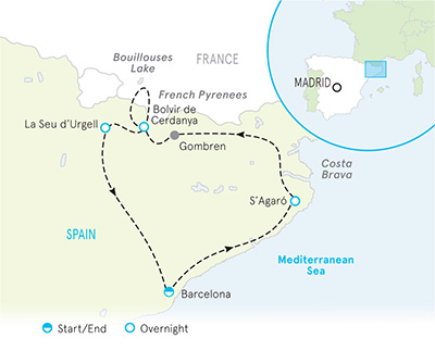 Spain walking tour map