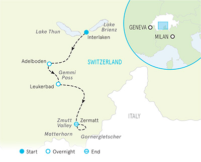 Switzerland Walking Map