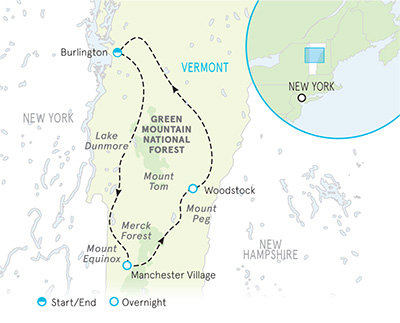 Vermont walking tour map