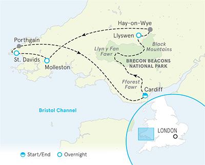Wales Tour Map