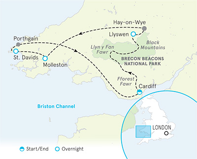 Wales Tour Map