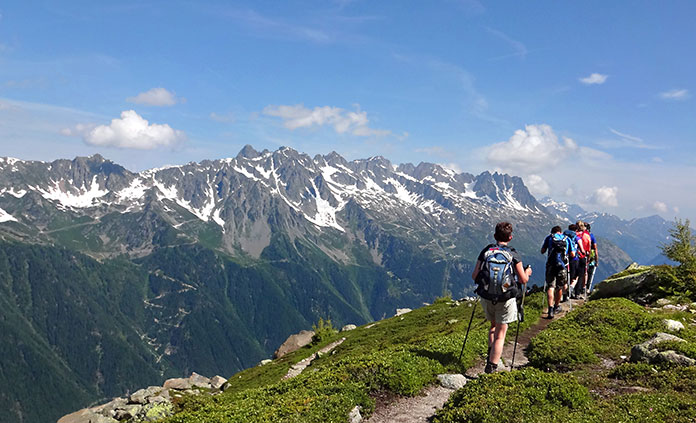 French italian alps walking hiking tour