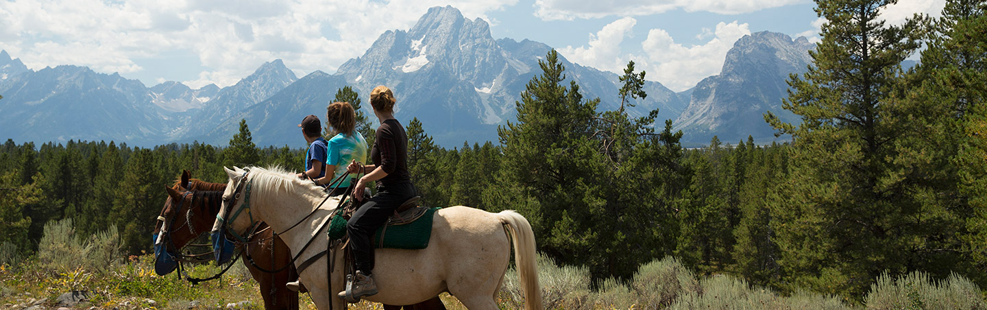 Family Horseback Riding - Grand Teton National Park, Wyoming