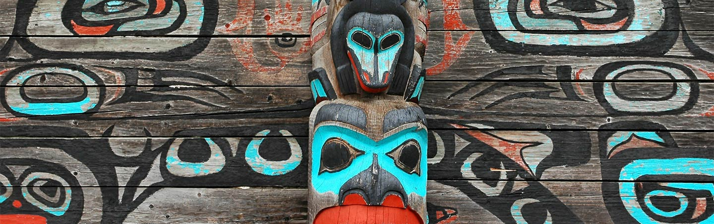 Totem pole - Backroads Alaska's Kenai Peninsula Family Breakaway Multisport Adventure Tour