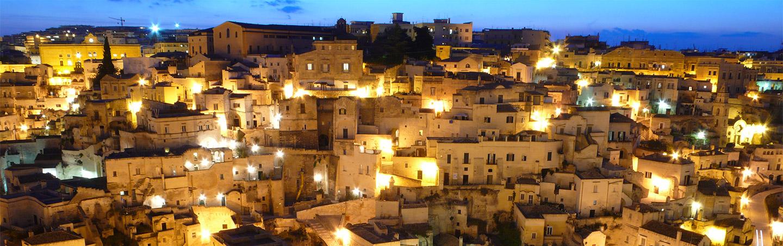 Puglia, Italy at night