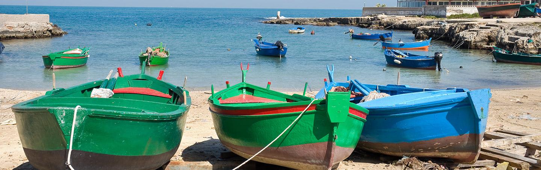 Boats in Puglia, Italy
