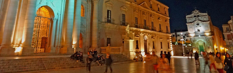 Sicily, Italy at night