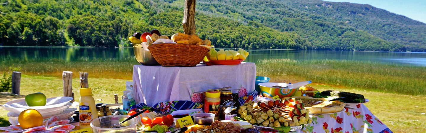 Lunch picnic - Backroads Argentina Lake District Family Multisport Tours