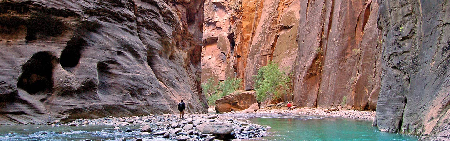 Hiking the Narrows on Backroads Bryce and Zion Multisport Tour