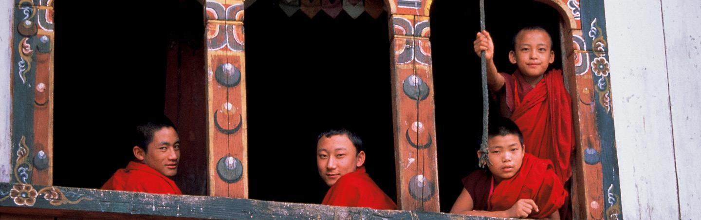 Buddhist monks - Backroads Bhutan Multisport Adventure Tours