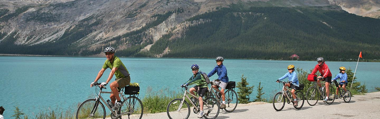 Canadian Rockies family bike tours