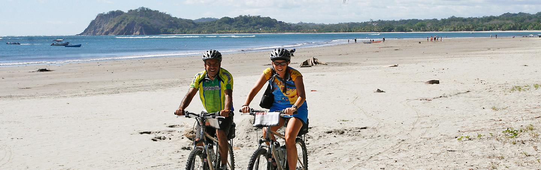 Biking on the beach - Backroads Costa Rica Multisport Adventure Tour