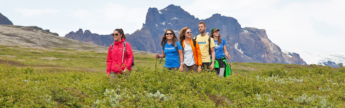 Hiking during Backroads Iceland Family Multisport Tour