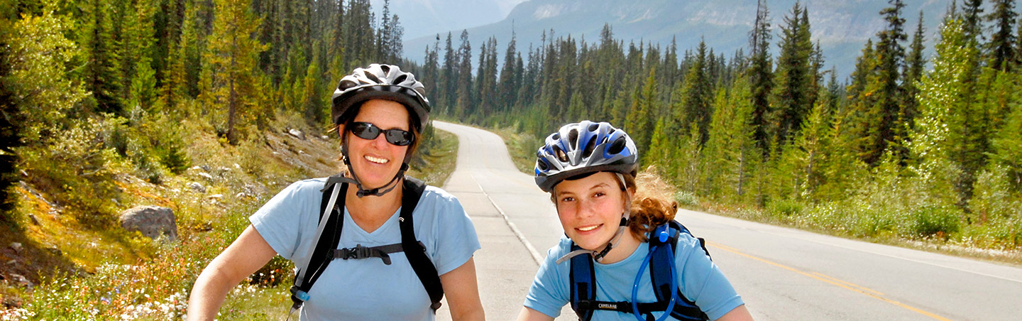 Cycling on Backroads Canadian Rockies Family Multisport Adventure Tour