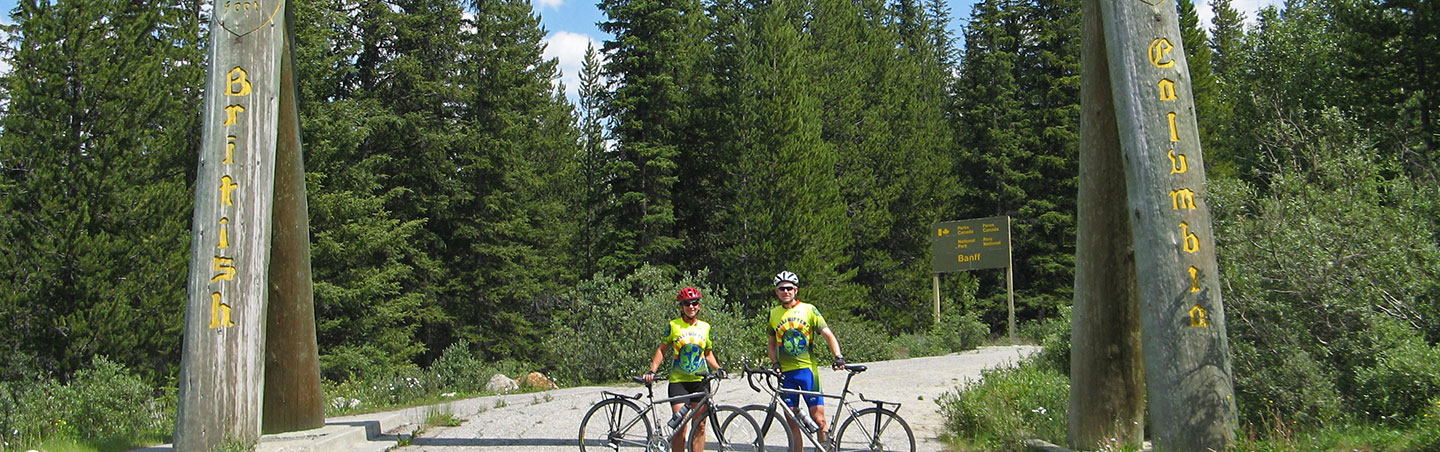 The Continental Divide, Canadian Rockies bike tour