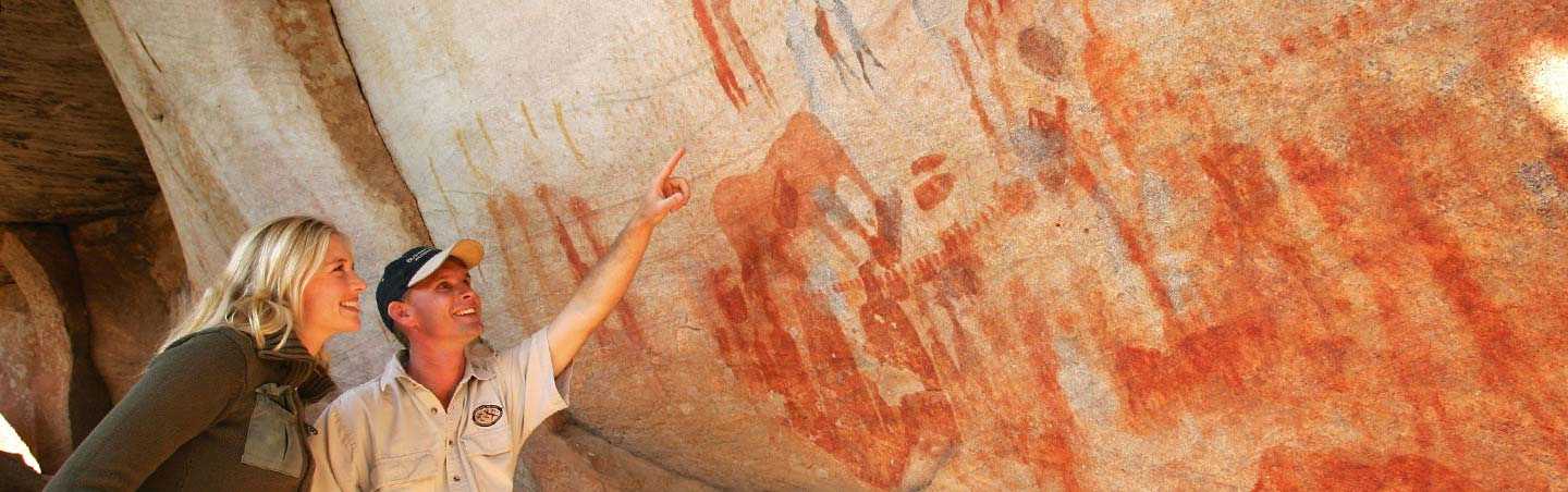 Cave Drawings, Backroads South Africa & Botswana Family Breakaway Multisport Adventure Tour