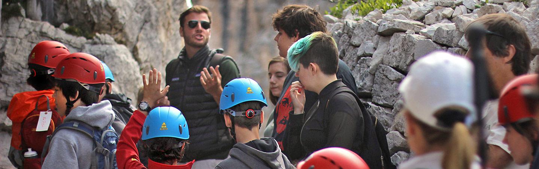 Rock climbing - Dolomites Family Hiking Tours
