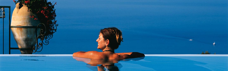 Swimming pool at Hotel Caesar Augustus, Amalfi Coast, Italy